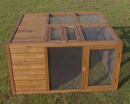Exacme-Lovupet-48-Foldable-Wooden-Animal-Cage-Outdoor-Chicken-Coop-Rabbit-Pet-Hutch-Run-6010-0400