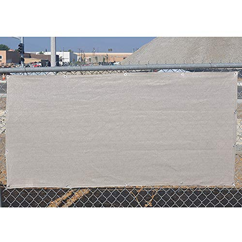 Alion Home Elegant Windscreen Privacy Screen for Deck, Pool, Railing, Backyard Deck, Patio, Fence, Porch – Smoke (3′ x 20′) For Sale