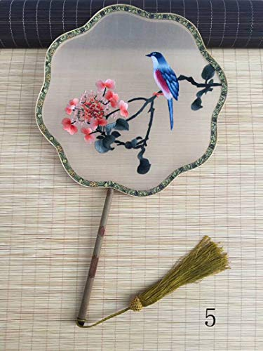 3D Lifelike Bird in The Branch Embroidery Natural Bamboo Trim Handle Double Side Stitchwork Needlework Silk Hand - Silk Embroidery Bird