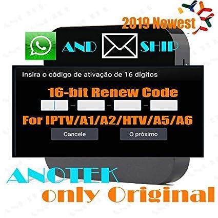 Ativação de caixa de IPTV do Brasil renovar código para A1/ A2/ HTV/IPTV 5/  IPTV6/ IPTV King/Tigre, 2019 mais novo, código de ativação de 16