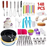 Cake Decorating Supplies,148 PCS Complete Baking Set with 4 Packs...