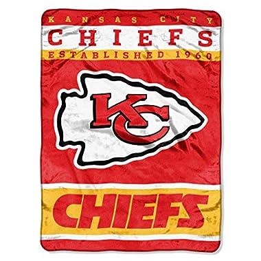 NFL Kansas City Chiefs 12th Man Plush Raschel Throw, 60  x 80