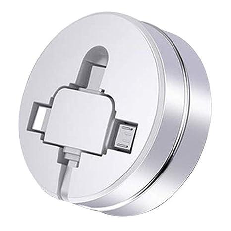 AWIS Cable USB Enrollable,Multiple Cargador Adapter Conector ...