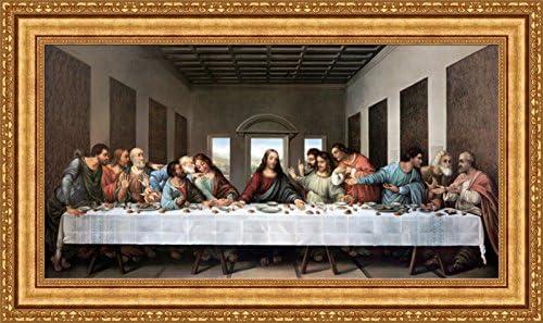 Leonardo Supper Framed Canvas Giclee