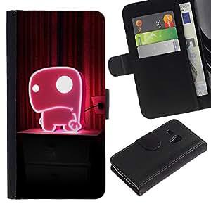 Ihec-Tech / Flip PU Cuero Cover Case para Samsung Galaxy S3 MINI NOT REGULAR! I8190 I8190N - Cute Pink