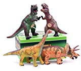 "14"" Jumbo Dinosaur Figures 4-Set, Realistic Looking Sound Toys (501A)"