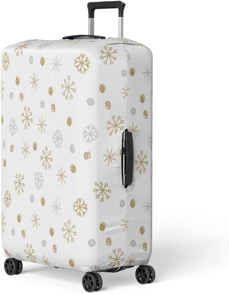 Pinbeam Luggage Cover Pagan Owl in Celtic of the Moon White Travel Suitcase Cover Protector Baggage Case Fits 18-22 inches