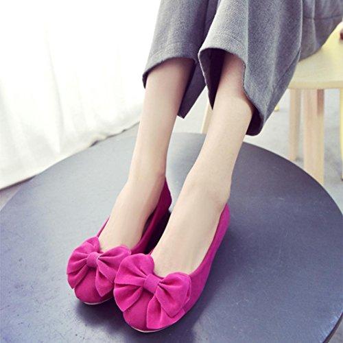 Rouge ® pour Bowknot Chaussures mode étudiant travail femmes de Transer loisirs Pregnent plat Hnxq7wSf