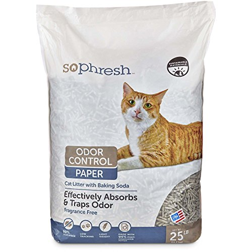 So Phresh Odor Control Paper Cat Litter, 25 lbs. (Recycled Paper Pellets)