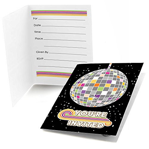 70's Disco - Fill In 1970's Disco Fever Party Invitations (8 count) (Disco Ball Invitations)