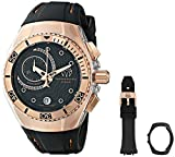 TechnoMarine Unisex 114041 Cruise One Analog Display Swiss Quartz Black Watch