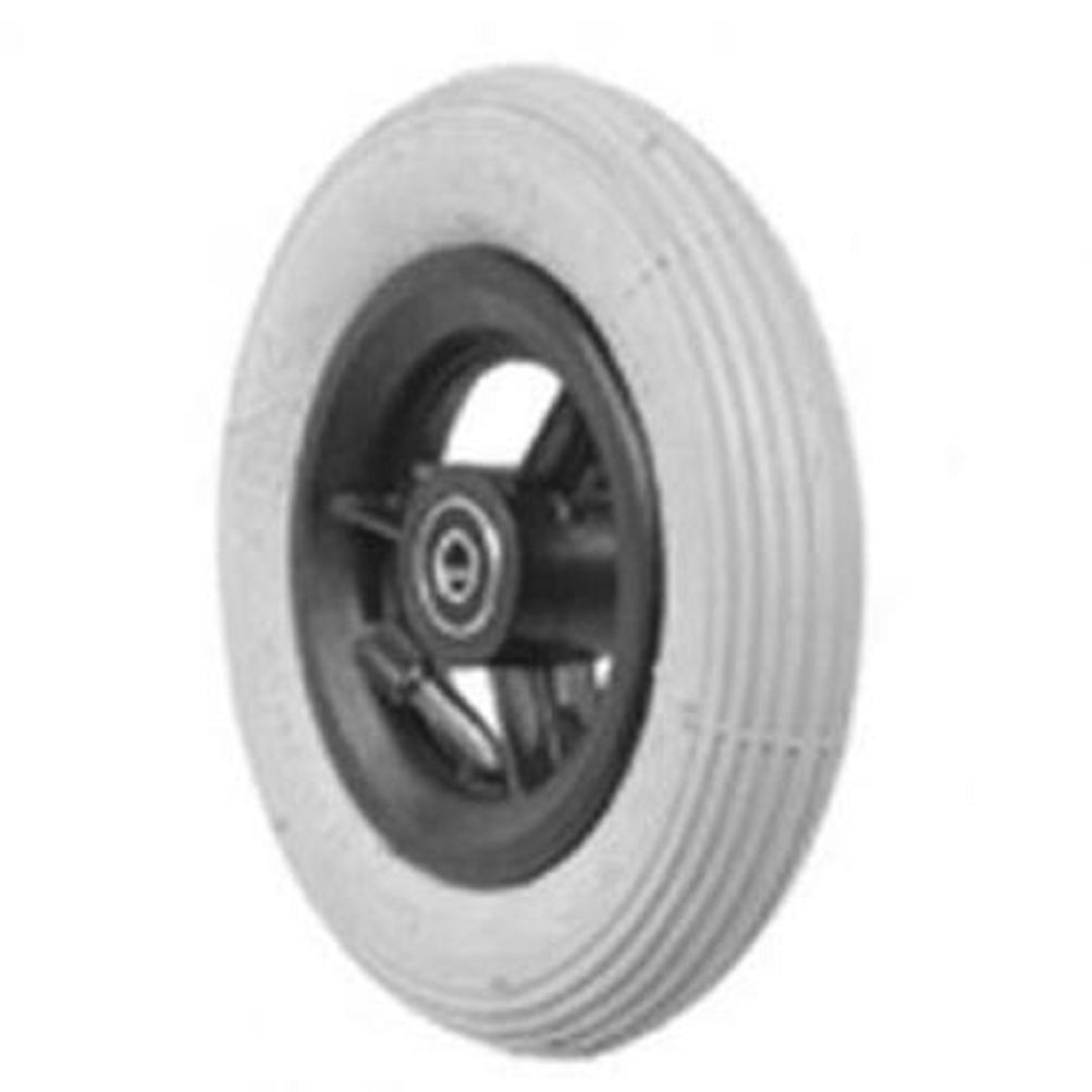 6'' X 1 1/4'', Black Pneumatic Caster Tire for Powerchair Wheelchair