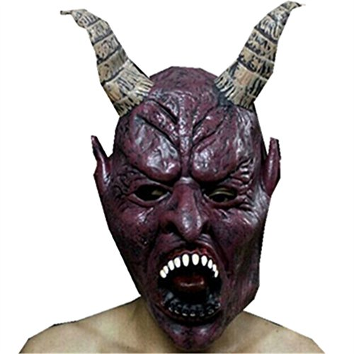 Gladiator Mask Movie (Halloween Mask,WuyiMC Latex Scary Costume Ghost Cosplay Party Half Face Mask Bloody Face Off Horror)