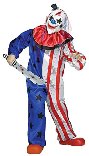 Fun World Evil Clown Costume, Medium 8 - 10, Multicolor -