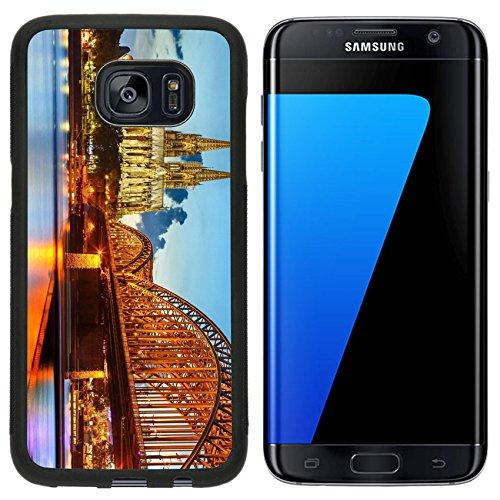 Liili Samsung Galaxy S7 Edge Aluminum Backplate Bumper Snap Case Cologne Cathedral and Hohenzollern Bridge Germany Photo 15700633