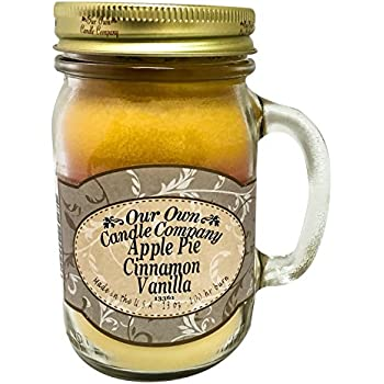 Apple Pie Cinnamon Vanilla Scented 13 Ounce Mason Jar Candle By Our Own Candle Company