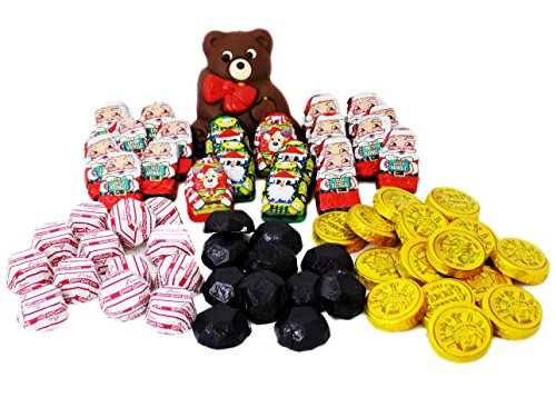 Stocking Stuffer Package Teddy Bear Ugly Sweater Chocolate Candy Assortment (Over 60pc)