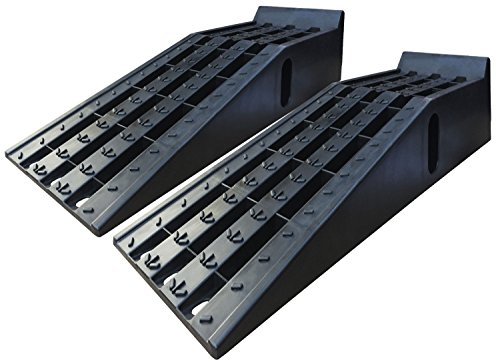Heavy Duty Car Service Floor Ramps - One Pair (16,000lb. GVW Capacity) by BUNKERWALL BW4212