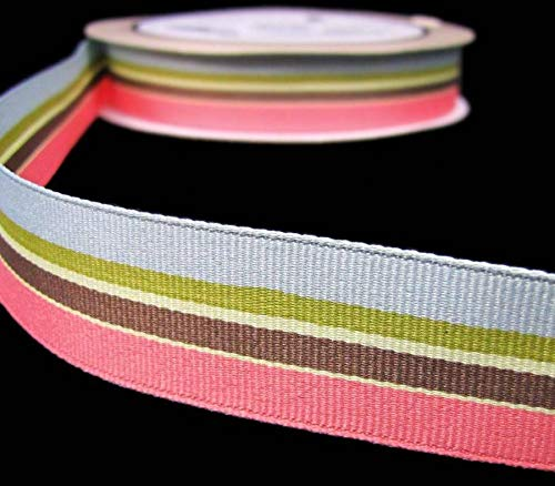 25 Yds Rare HTF Fancy Pants Lilac House Coral Pink Peach Blue Grosgrain Ribbon