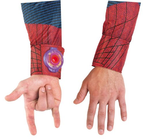 Disguise Marvel The Amazing Spider-Man Light Up Adult Web Shooter, (Spiderman Costumes Web Shooters)
