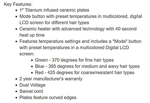CHI PRO G2 Digital Titanium Infused Ceramic Flat Iron in Different Size Options - Hair Straightener by CHI (Image #2)