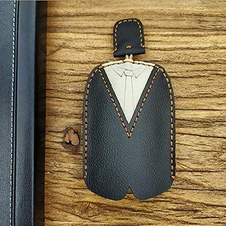 Black Yokepo Genuine Leather Car Key Case Wallet Hand Made Key Holder Bag for Men Women Key Chains Protector