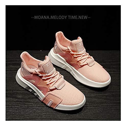 Planos Zapatos Estudiantes Gruesa Pink Casuales Zapatos AIMENGA Nuevos Zapatos Zapatos Transpirable Planos Suela Deportivos Mujeres Zx5Cw8