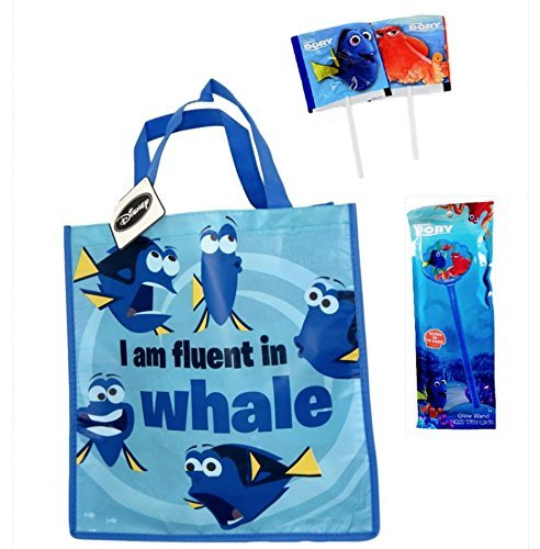 [Trick or Treat with Dory Tote Bag, Glow Wand and Finding Dory Candy Suckers] (Trick Or Treat Costumes For Kids)