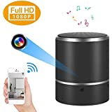 WiFi 1080P Bluetooth Speakers Mini Camera -Wireless Hidden Spy Camera -Rotate 180° Video Recorder Motion Detection-Nanny Cam Night Vision Free Android/iOS App Support 128Gb Micro SD Card(Not