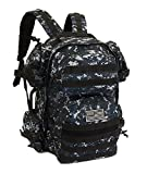 navy digital camo backpack - NPUSA Men's Large Expandable Tactical Molle Hydration ReadyBackpack Daypack Bag - ACU Navy Digital Camo