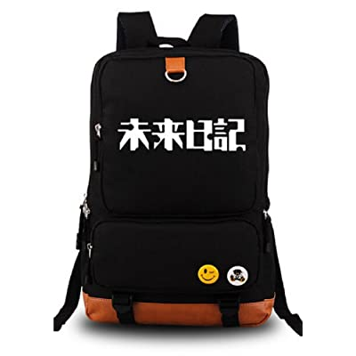 Siawasey Future Diary Anime Mirai Nikki Cosplay Backpack Shoulder School Bag: Toys & Games