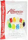 Albanese 12 Flavor Assorted Gummi Bears, 5-Pound Bags (Pack of 4)