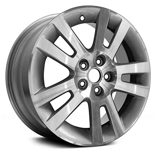Replacement 10 Spokes Machined with Silver Pockets Factory Alloy Wheel Fits Saturn Aura