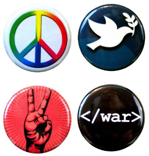 Hippie Button Set (Henry The Buttonsmith Peace Button Set)