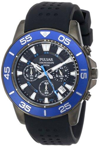 Pulsar Unisex PT3141 Analog Japanese-Quartz Black Watch