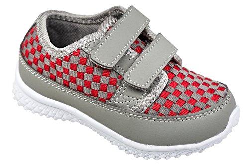 gibra - Zapatillas de Material Sintético para niño 36 Gris - Grau/Rot