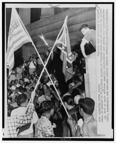 Infinite Photographs Photo: John Kaspar,Segregationists,Protesting School Integration,Nashville,Tennessee