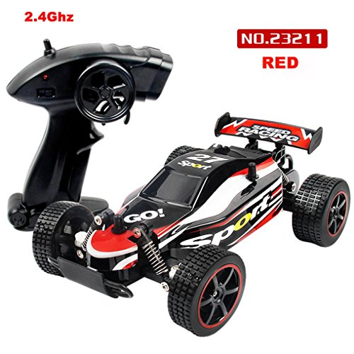 Gas Cars Control Run Remote (1/20 Scale 2WD RC Car, 2.4GHZ Radio Remote Control Off Road RC RTR Racing Car Truck, High Speed Racing Monster Truck for Kids Adults)