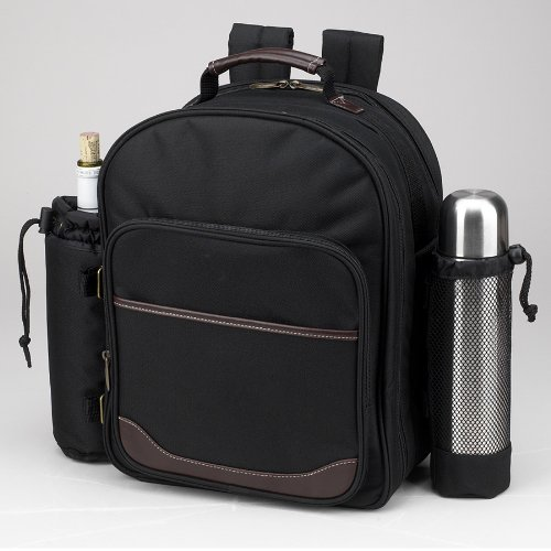 Picnic at Ascot - Deluxe Equipped 2 Person Picnic Backpack with Coffee Service, Cooler & Insulated Wine Holder - London Plaid