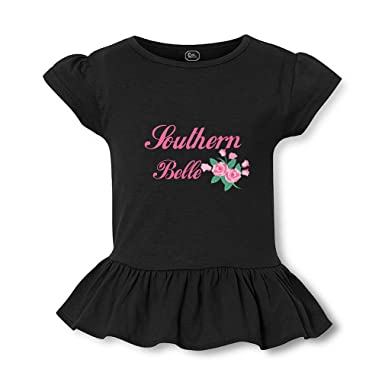65cad441 Amazon.com: Southern Belle Short Sleeve Toddler Cotton Girly T-Shirt Tee:  Clothing