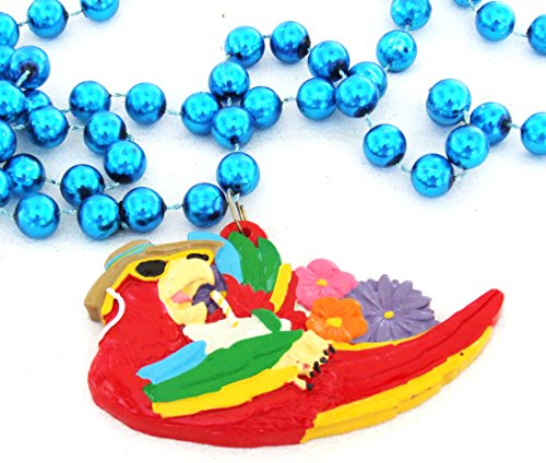 Parrot Luaua Party Mardi Gras Bourbon Street Mardi Gras Beads New Orleans Bayou Lousianna Cajun Creole -