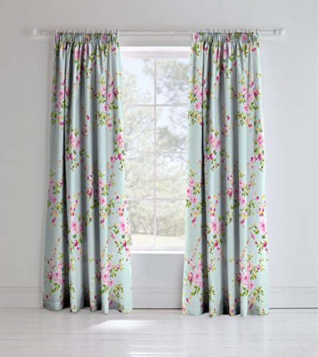 Catherine Lansfield Canterbury Easy Care Pencil Pleat Curtains Multi, 66x72 Inch
