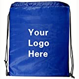 Ultra-Light Promotional Drawstring Bag String-A-Sling Backpack- 13''w x 16''h- 150 Quantity - $1.60 Each-Promotional Products Bulk Custom Branded with YOUR LOGO for Free/C2BPromo #C2BB0050-Royal Blue
