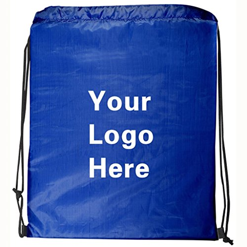 Ultra-Light Promotional Drawstring Bag String-A-Sling Backpack- 13''w x 16''h- 150 Quantity - $1.60 Each-Promotional Products Bulk Custom Branded with YOUR LOGO for Free/C2BPromo #C2BB0050-Royal Blue by C2BPROMO.COM YOU PRICE IT. WE DELIVER IT.