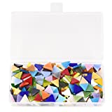 360 Pieces Mosaic Glass Tile Mixed Color Stained Glass Triangle Mosaic Tiles Pieces Crafts DIY Projects for Home Decoration Art Supplies qianshan, 14mm / 0.55inches (Non-Transparent)