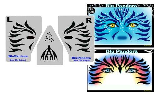 amazon com face painting stencil stencileyes blupandora avatar