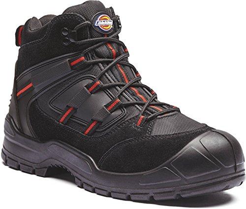 scarpe di Everyday tacco in Black punta Red Dickies e uomo da abrasione sicurezza anti acciaio 5HBqIqFnx