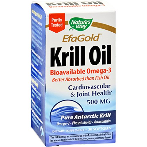 Efa Krill Oil Gold - Nature's Way EfaGold Krill Oil - 30 Softgels - Purity Tested - Bioavailable EFAs Super Antioxidant - For Cardiovascular and joint Health Plus PMS Relief