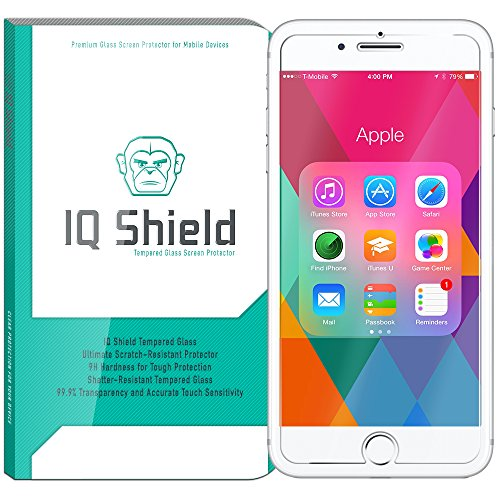 iPhone 7 Plus Screen Protector, IQ Shield Tempered Ballistic Glass Screen Protector for iPhone 7 Plus (Updated Version) 99.9% Transparent HD and Shatter-Proof Shield