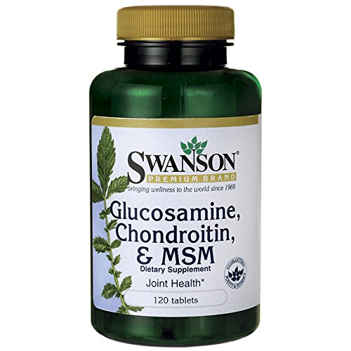 - Glucosamine, Chondroitin, & Msm 240 Tabs Made in USA by Swanson 2 pack of 120 Tabs